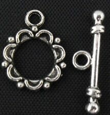 19/62Sets Tibetan Silver Toggle Clasps 19x15mm (Lead-free)