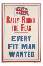 Rally Round The UK Flag Patriotic Poster New - Laminated Available