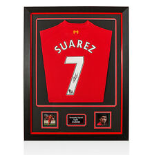 Framed Luis Suarez Signed Liverpool Shirt 2013/2014 - Number 7