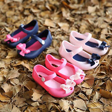Baby Kids Girls Children Summer Sandals Bow Fish Head Jelly Shoes Slippers Size