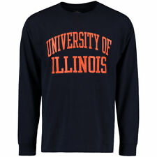 Illinois Fighting Illini Champion University Long Sleeve T-Shirt - Navy - NCAA