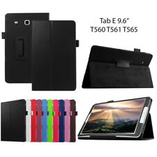 Leather Tablet Stand Flip Cover Case For Samsung Galaxy Tab E 9.6 T560