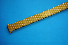 Elastic Ladies Watch band in Stainless steel gold-plated 12mm