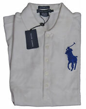 Polo Ralph Lauren Womens Slim The Skinny Polo Big Pony Logo Button Shirt M