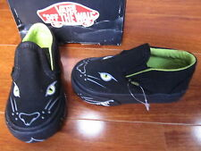 NEW VANS CLASSIC SLIP ON SHOES Toddler Boys sizes PANTHER SLIP Black Lime