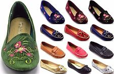 Girls Flats Loafers Ballets Moccasins Round Toe Ballerinas Shoes sz 9-13,1-4