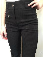 Cavallo Chagall-S Softshell Black White Pinstripe Breeches 32L High Waist New