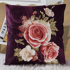 Home Room Sofa Vintage Flower Square Cushion Cover Car Office Decor Pillow Case