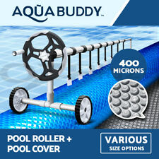 Solar Swimming Pool Cover Roller 400 Micron Outdoor Bubble Blanket Adjustable