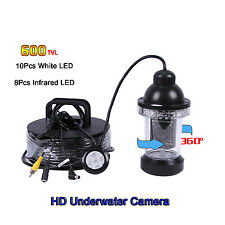 328ft 360°Underwater Fishing Camera Kit w/ 600TVL CCD CMOS Diving Fishing Camera