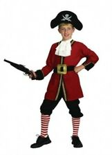Childrens Boys Captain Hook Costume for Pirate Peter Pan Fairytale Fancy Dress