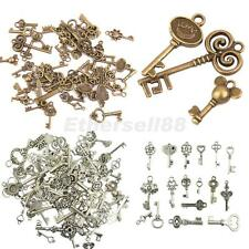 50pcs Vintage Alloy Assorted Skeleton Key Pendants Charms Jewelry