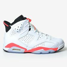 AIR JORDAN 6 RETRO WHITE INFRARED 2014 BLACK VI RED MEN'S DS NIKE 384664-123