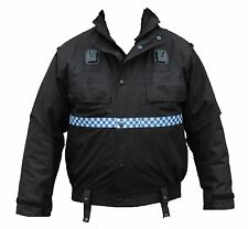 Ex Police Black Waterproof Lined Bomber Jacket Security Dog Handler GRADE B
