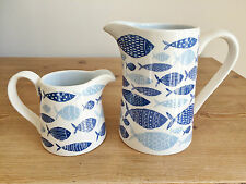 Gisela Graham Kitchen Ceramic Fish Creamer or Milk Jugs