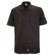 Dickies - Shorts/S Work Shirt Work Shirt Leisure Shirt Dark Brown