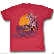 T-Shirts Sizes S-2XL New Authentic Mens Evel Knievel Danger Zone Tee Shirt