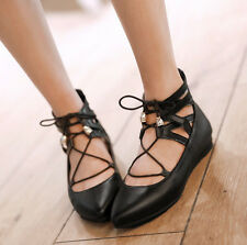 New Hot Women's Patent Leather Pointted Toe Lace Up Sexy Flat Heels Oxford Shoes