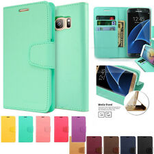 Diary Wallet Case Slim Book Flip Card Cover Case For Galaxy S8 / iPhone 7 / G6