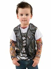 Tattoo Tee W/Mesh Tattoo Sleeves Fancy Dress Costume Toddler