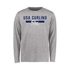 USA Curling Youth NGB Team Strong Long Sleeve T-Shirt - Ash - Olympics
