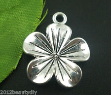 Wholesale Silver Tone Lily Flower Charms Pendants Findings