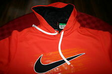 MENS NIKE PULL OVER THERMAFIT HOODIE SWEATSHIRT JACKET ORANGE & BLACK XL XXL NWT