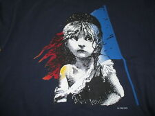 Vintage 1986 LES MISERABLES Theater Broadway Play (Youth XL) T-Shirt BLUE