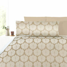 3 Pce 300TC Beige DAMASK Jacquard Quilt Cover Set by Accessorize - QUEEN KING
