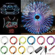 1M Led 10 Colors Flexible EL Wire Neon Glow Light Controller Battery Lamp 3V
