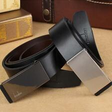 Luxury Leather Automatic Buckle Belt Casual Men's Waistband Waist Strap Belt New
