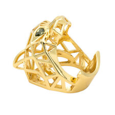 Gold Green Eyes Leopard Panther Cocktail Ring for Men/ Women Jewelry RIA003