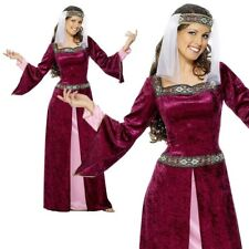 Maid Marion Costume Ladies Medieval Fancy Dress Costume Sizes 8-26