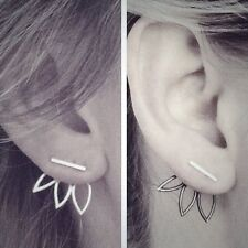 Fashion Design Earrings for Women Hollow Out Flower Leaves Leaf Simple Ear Studs