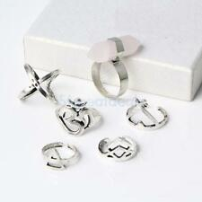 Chic 6pcs Light Blue/Pink Bohemia Top Of Finger Rings Midi Knuckle Finger Rings
