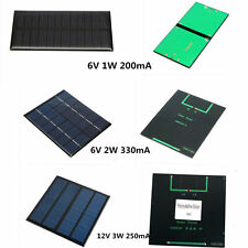 6V/12V 1W / 2W/3W Solar Panel DIY for Light Battery Cell Phone Chargers Portable