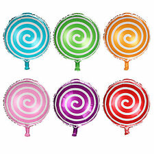 New 18 inch Candy Lollipop Wedding party Birthday Helium foil Balloon 6 Colour