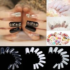 500pcs UV Gel Natural Acrylic French Acrylic Style False Nail Art Tips Tool DZ88