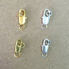 Wholesale! Silver/Gold Plated Lobster Claw Clasps Findings12x6/14x7mm