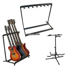 3/5/7 Multiple Guitar Bass Stand Holder Stage Folding Multi Black Storage Rack