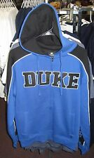 Duke Blue Devils NCAA Navy Blue Full Zip Hoodie Sweatshirt - Free Ship - New