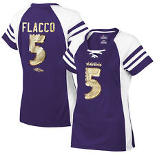 Joe Flacco Baltimore Ravens Majestic Women's Draft Him IV T-Shirt - Purple - NFL