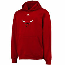 Chicago Bulls adidas Youth Primary Logo Pullover Hoodie - Red - NBA