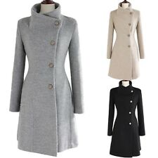 womens Fashion Winter outerwear Ladies Apparel vintage ovetcoat trench Coat Size
