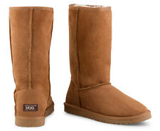OZWEAR Connection Unisex Classic Long Ugg Boot - Chestnut