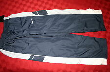 BOYS NIKE WIND ATHLETIC WARM UP LINED PANTS NAVY BLUE GRAY & WHITE SZ 6 NWT