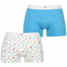 Fabric Mens Triangle 2 Pack Trunks Boxers Bottoms Elasticated Waist Underwear