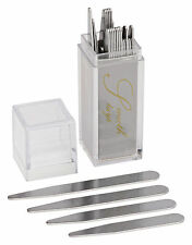 36 Stainless Steel Collar Stays in Clear Plastic Box, Order the Sizes You Need!!