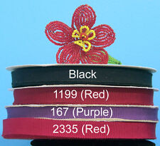 "3/8"" (10mm) Assorted French Cotton Rayon Grosgrain Ribbon (25 yds)"