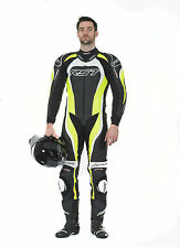 RST TRACTECH EVO 2 ONE PIECE MOTORCYCLE RACE LEATHERS FLO GREEN 1415